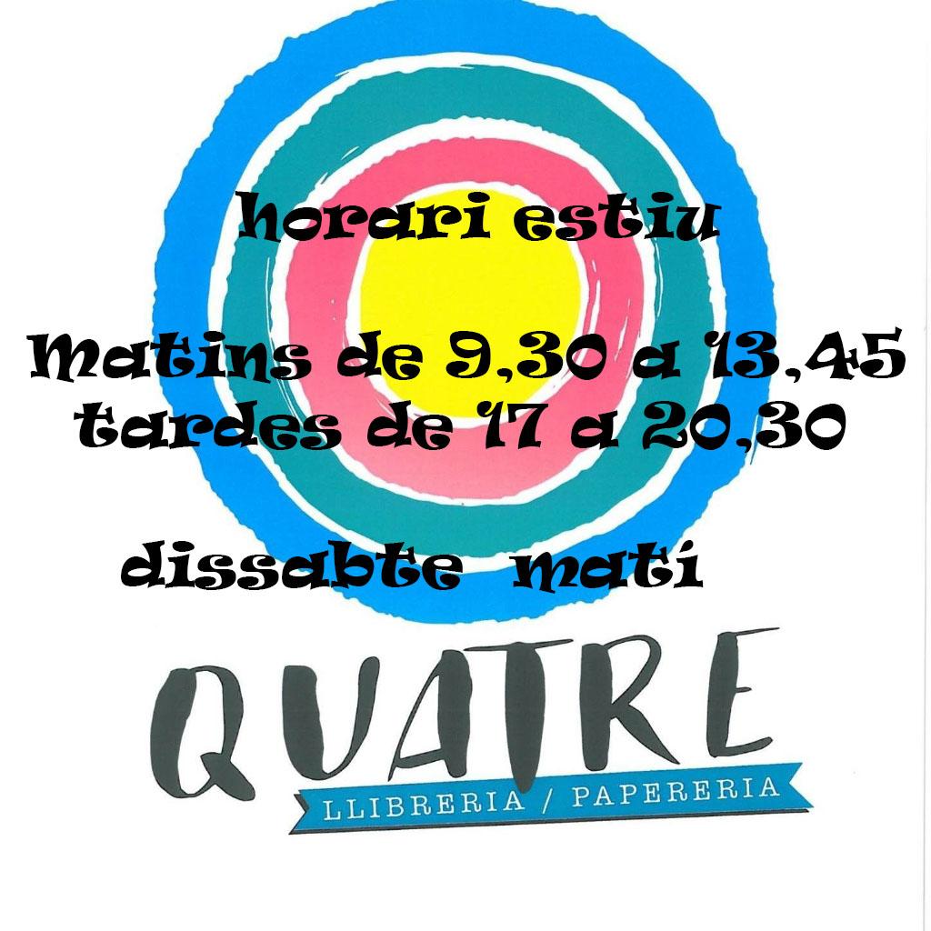 Logo comerç Llibreria Papereria Quatre