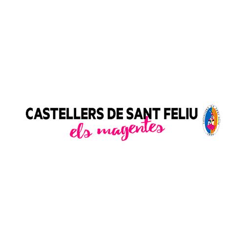 Logo comerç Castellers de Sant Feliu. Els Magentes
