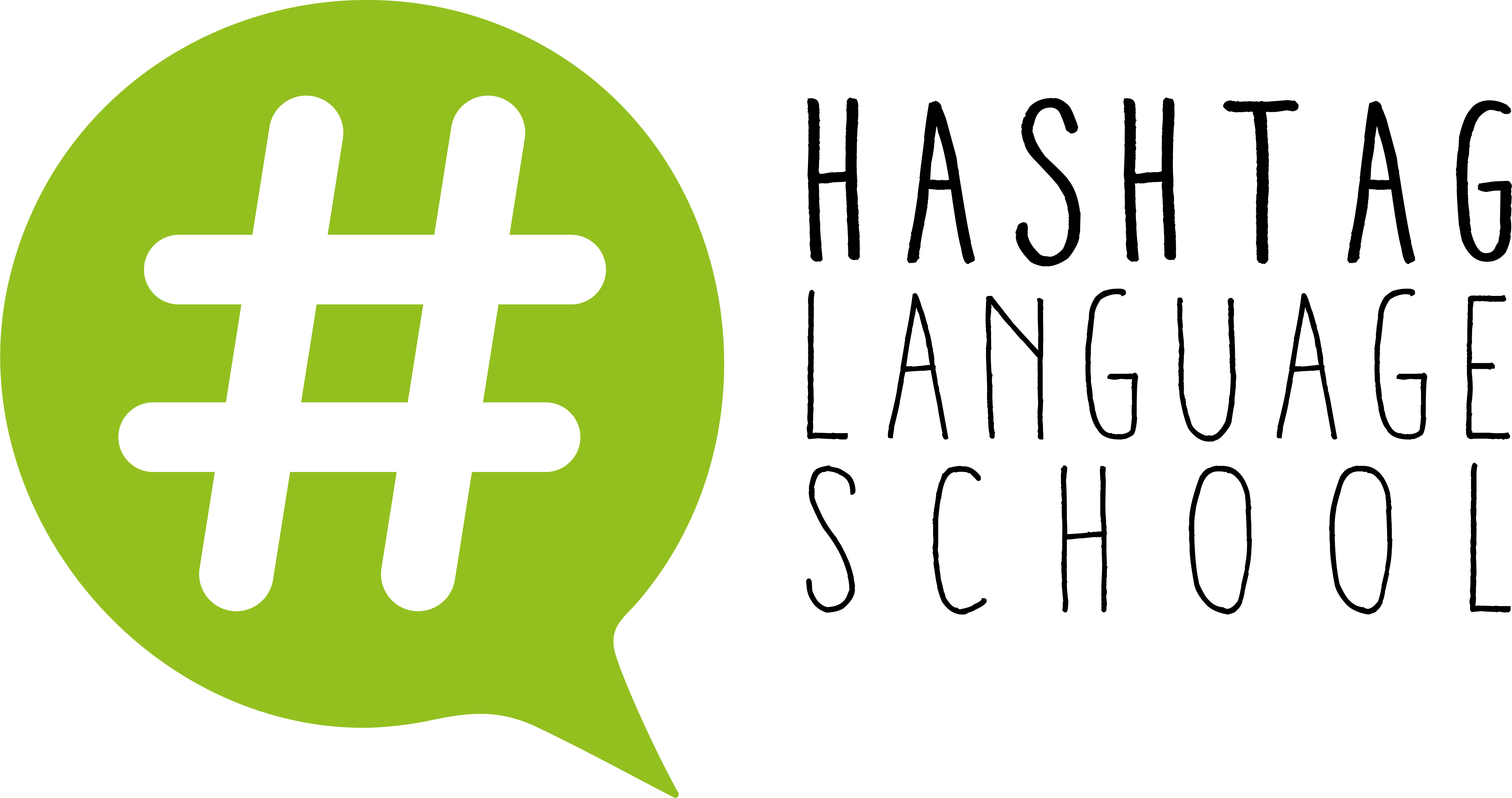 Logo comerç Hashtag Language School
