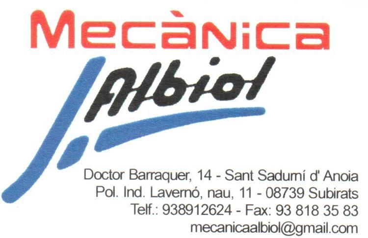 Logo comerç MECÀNICA ALBIOL