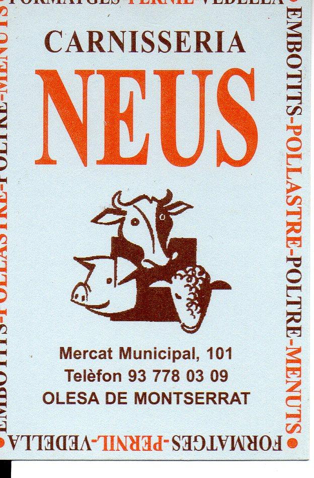 Logo comerç CARNISSERIA NEUS