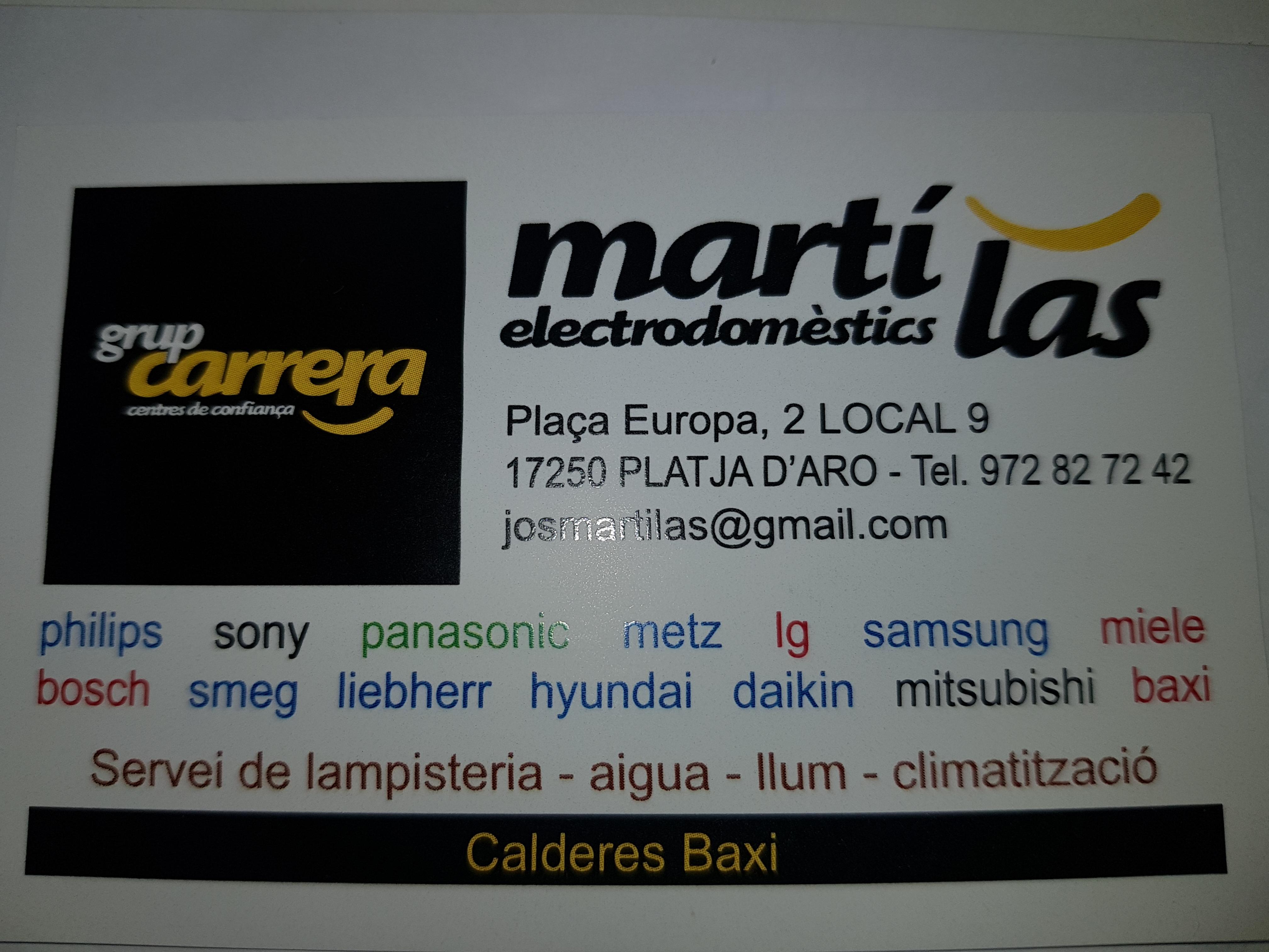 Logo comerç Martí Las Electrodomèstics