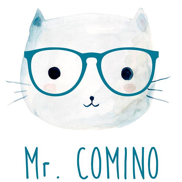 Logo comerç Mr. Comino