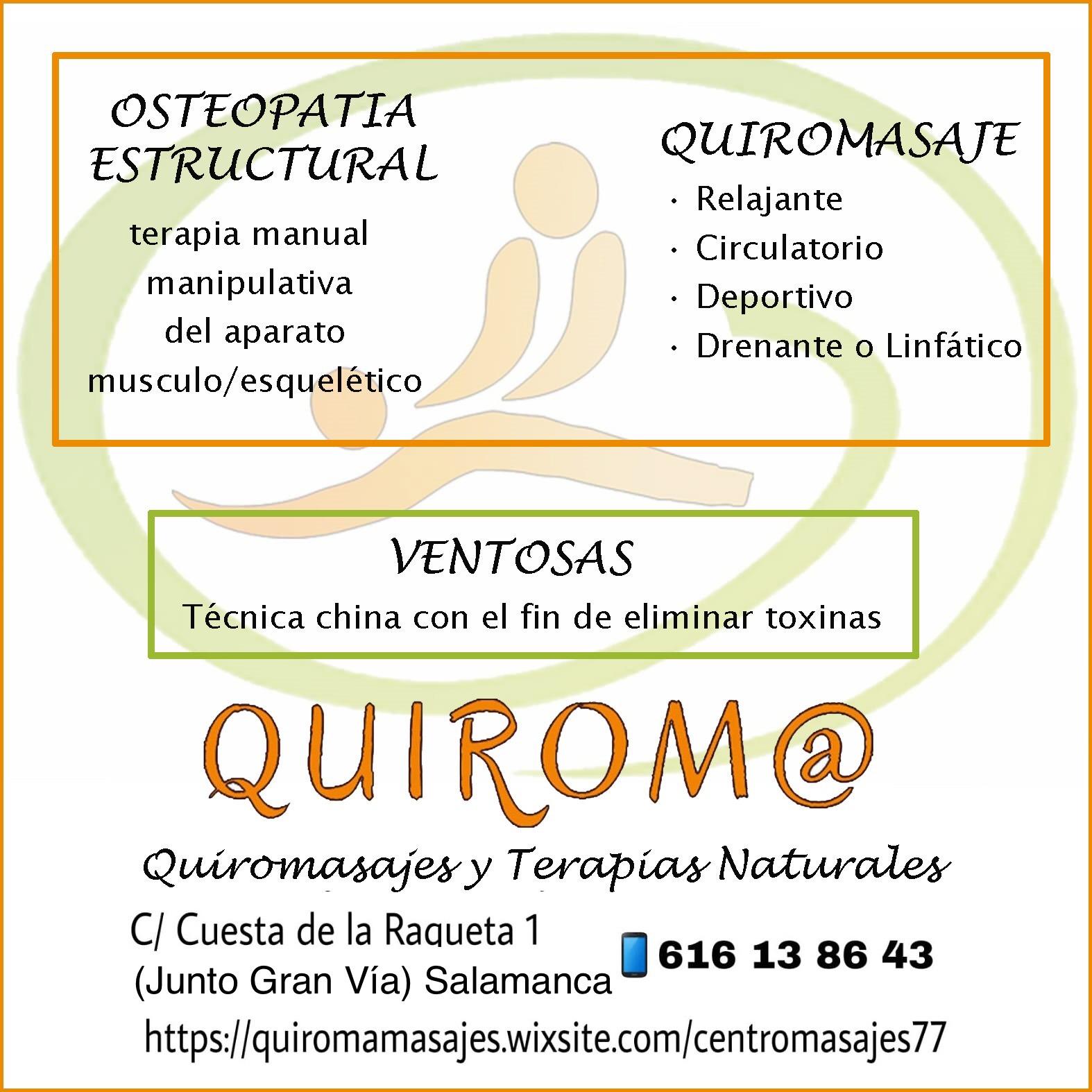 Logo comerç QUIROM@ QUIROMASAJES Y TERAPIAS NATURALES