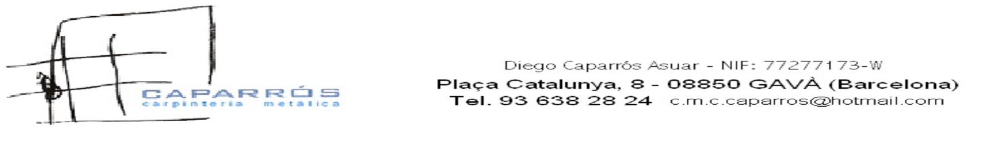 Logo comerç Carpinteria Metálica Caparros