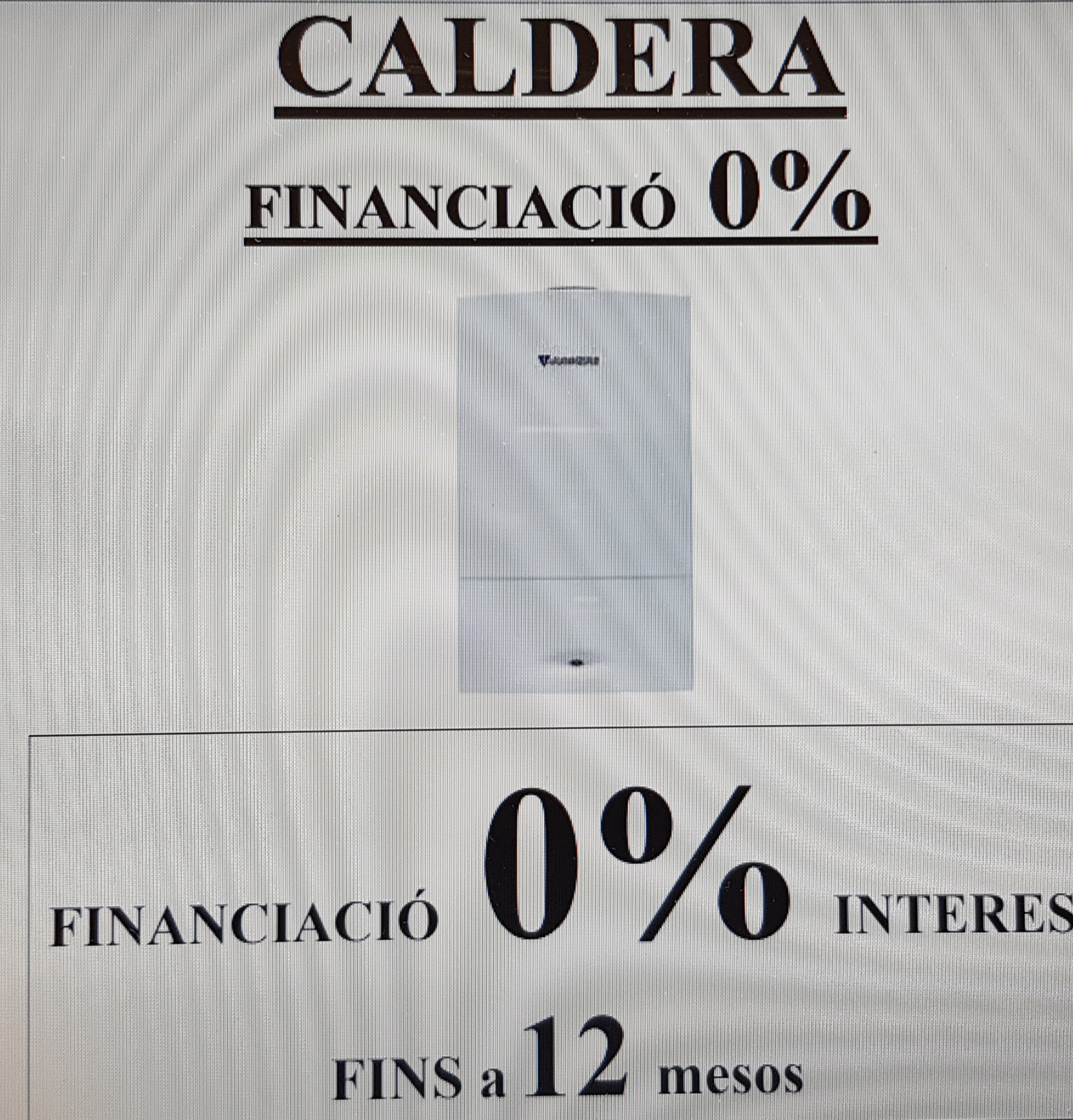 FINANCIACIÓ 0% - CALDERES