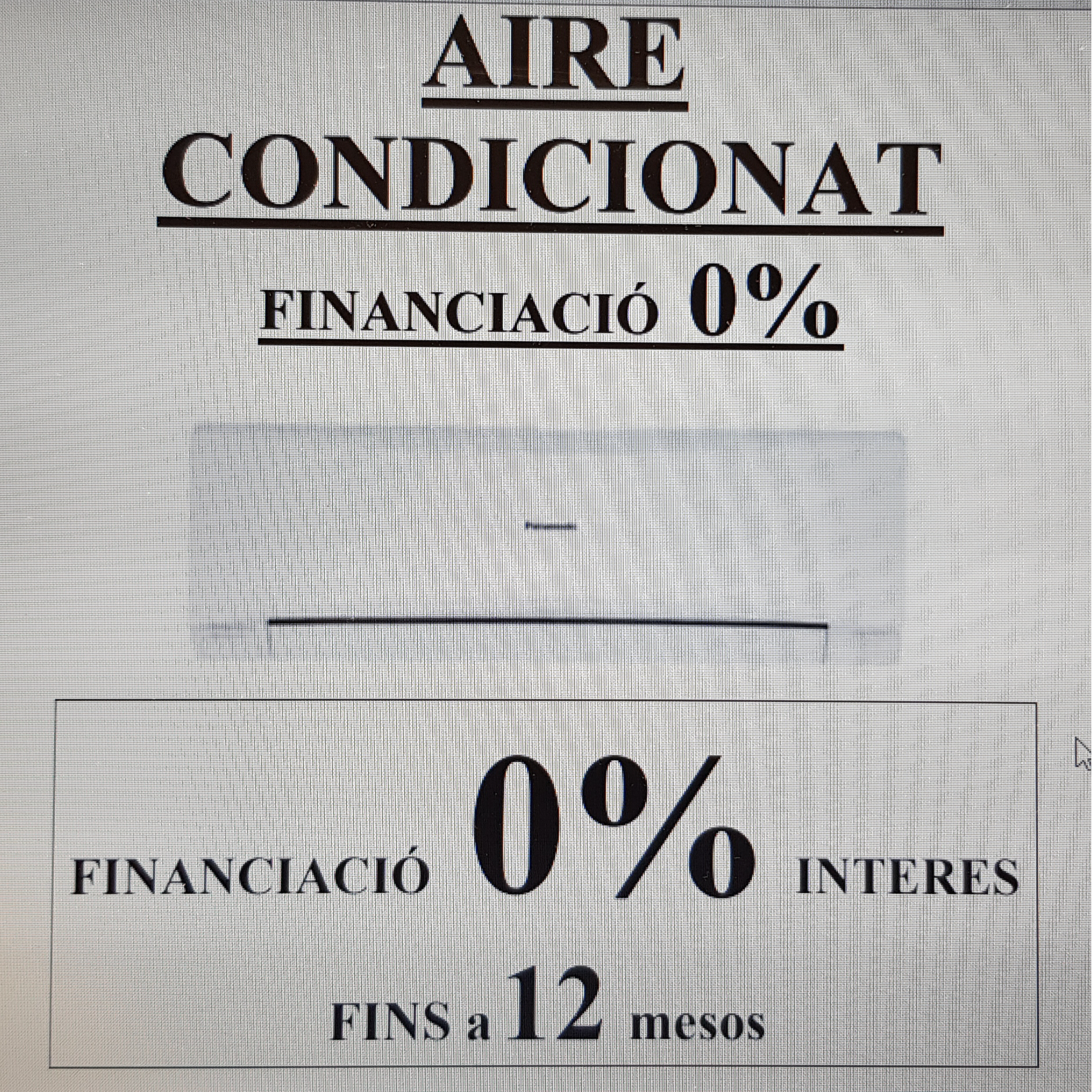 FINANCIACIÓ 0% - AIRE CONDICIONAT